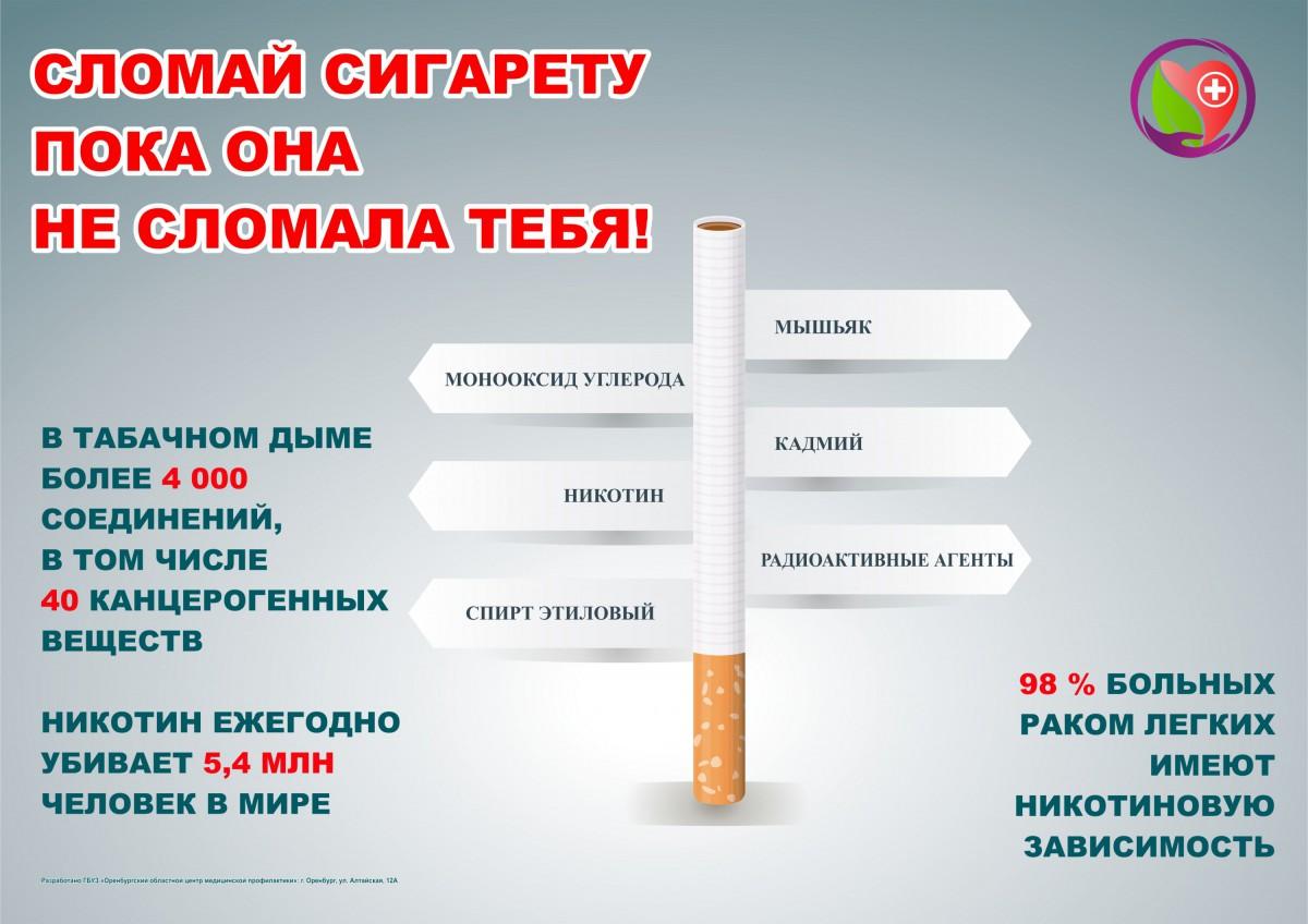 Содержание вредных веществ в сигарете инфографика